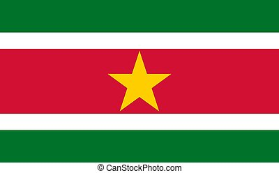 Suriname Flag  - Vector Illustration