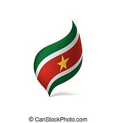Suriname flag, vector illustration on a white background