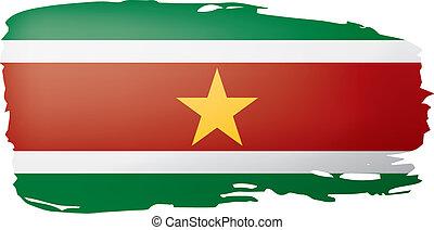 Suriname flag, vector illustration on a white background. -...