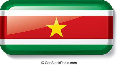 Suriname flag, vector illustration on a white background -...