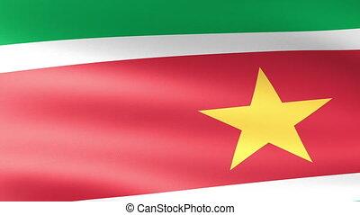Suriname Flag Waving