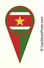 Suriname Map Pointer Location Flag - Suriname map pointer...