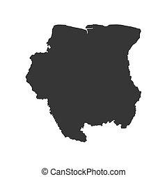 Suriname map silhouette