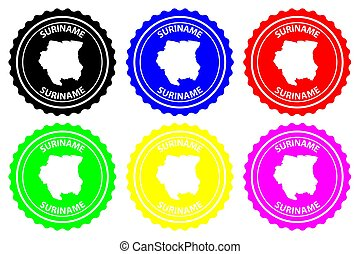 Suriname - rubber stamp - vector, Republic of Suriname...