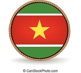 Suriname Seal - Flag seal of Suriname.