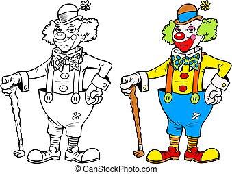 Rich clown, with bonus black outline version