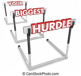 surmonter, obstacle, problème, obstacle, ton, difficile, ...