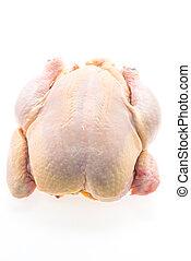 surowy, kurczak, mięso