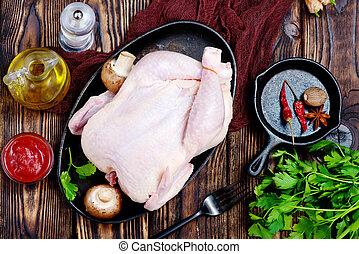 surowy, kurczak