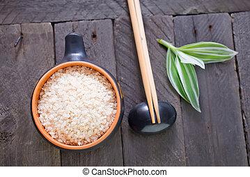 surowy, ryż