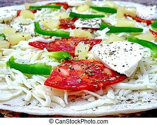 surowy, szczelnie-do góry, pizza