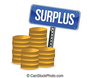 surplus money illustration design over a white background