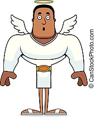 surpreendido, caricatura, anjo