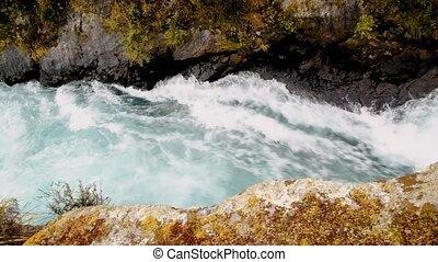 surprenant, nouveau, île, zélande, nord, chutes, chutes d'eau, huka