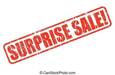 surpresa, venda, vermelho, selo, texto
