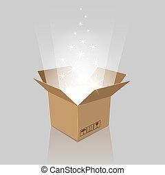 Empty magic opened box