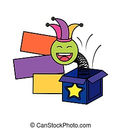 surprise box with happy fool face