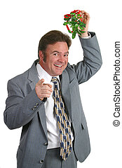 Surprise For You - A businessman under the mistletoe...