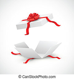illustration of open gift box surprise