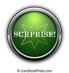 Surprise icon0 - Surprise icon. Surprise website button on...