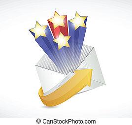 surprise mail illustration design