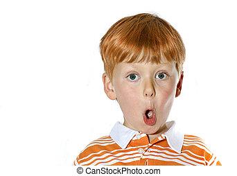 Surprise Red head - A surposed read headed boy