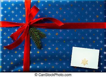 surprise;, saudação, feriados, fundo, cartão natal