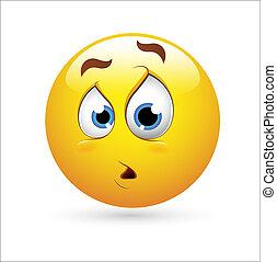 Creative Conceptual Design Art of Smiley Emoticons Face Vector - Surprise Expression