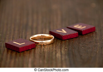 wedding ring - surprise wedding ring in a board game