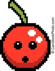 Surprised 8-Bit Cartoon Cherry - An illustration of a cherry...