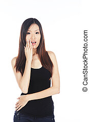 Surprised Asian Woman - Surprised and Shocked Young Pretty...