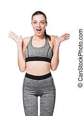 surprised athletic girl