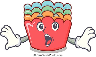 Surprised baking molds mascot cartoon