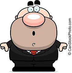 Surprised Cartoon Businessman