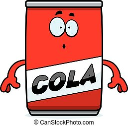 Surprised Cartoon Cola Can
