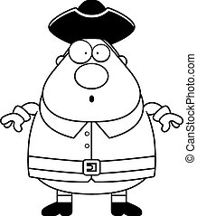 Surprised Cartoon Colonial Man