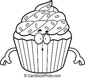Surprised Cartoon Cupcake