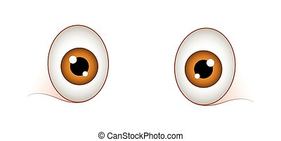Surprised Cartoon Eyes