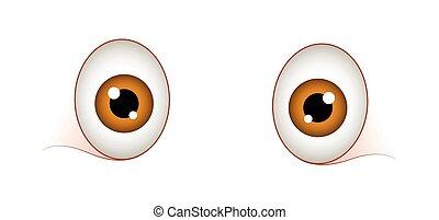 Surprised Cartoon Eyes