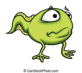 Surprised Cartoon Frog Character