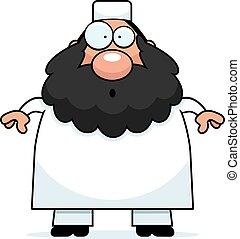 Surprised Cartoon Muslim - A cartoon illustration of a...
