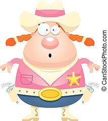 Surprised Cartoon Sheriff