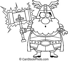 Surprised Cartoon Thor