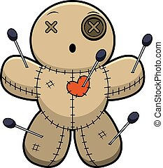 Surprised Cartoon Voodoo Doll