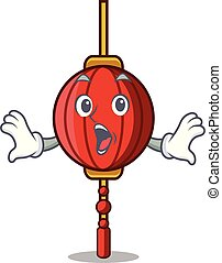Surprised chinese lantern mascot cartoon