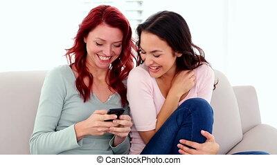 Surprised cute women