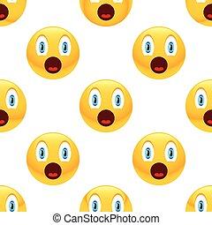 Surprised emoticon pattern