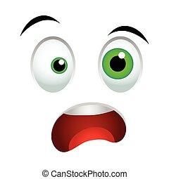 Surprised emoticon sign