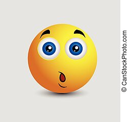 Surprised Expression Cartoon Smiley
