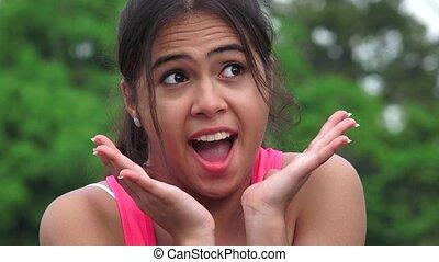 Surprised Female Teen